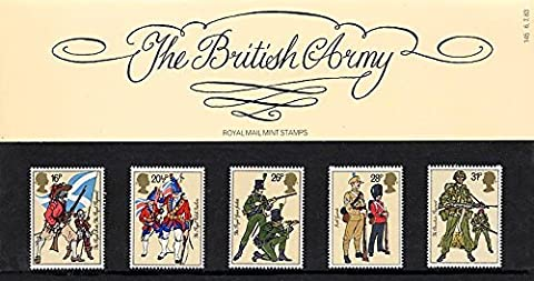 1983 British Army Presentation Pack PP124 (printed no. 145) - Royal Mail Stamps