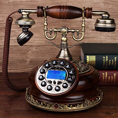 BAIF Gesundheit UK Telefon-Massivholz Europäischen Antikes Telefon, Home Office Alte Wireless Handy-Karte Plattenspieler Willkommen (Farbe: Eiche Massivholzknopf) - Eiche Plattenspieler