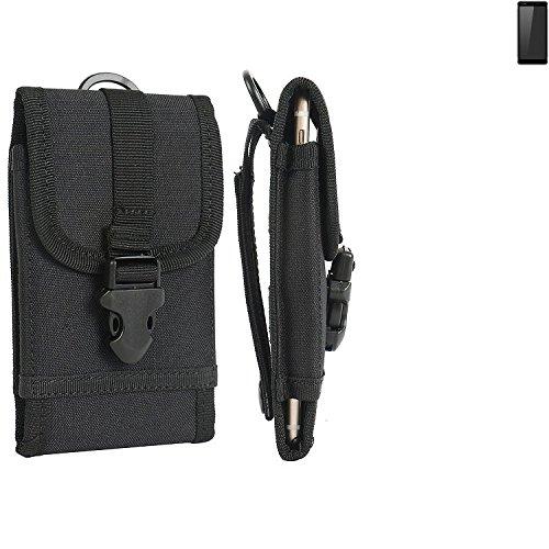 K-S-Trade Handyhülle für Ruggear RG850 Gürteltasche Handytasche Gürtel Tasche Schutzhülle Robuste Handy Schutz Hülle Tasche Outdoor schwarz