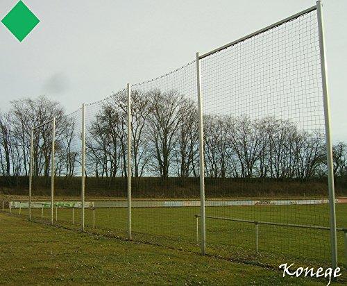 PROFI Ballfangnetz 5m Höhe, Länge wählbar, Farbe grün, 3mm Kordel, Fangnetz Netz Schutznetz