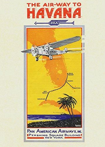 vintage-cuba-da-viaggio-per-havana-con-pan-american-airways-c1930-da-250-gsm-lucido-art-poster-a3-di