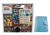 Lumière Interdite Carte pokemon SL06 Tripack REGIGIGAS 180 PV version française avec 1 cadeau bonus Porte-cartes format universel Lagiwa® offert