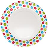 #7: Origami Stripped Party Paper Plates - Pack of 50