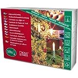 Konstsmide 1068-000 Baumkette mit Schaftkerzen /  für Innen (IP20) /  230V Innen / 10 klare Birnen / grünes Kabel