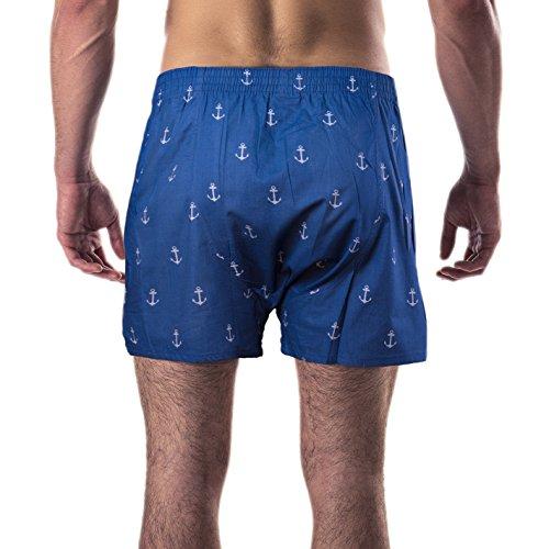 Boxershorts mit witzigen Motiv-Prints aus 100% Baumwolle Anker