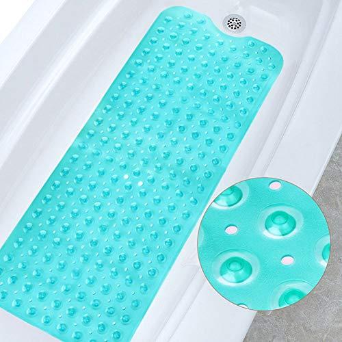 Ksnrang Badewanneneinlage für die Badematte Badewanne maschinenwaschbar antibakteriell, latexfrei, phthalatfrei, Badewannenmatten mit Abflusslöchern und Saugnäpfen Badezimmermatten (Grün, 40 x 100 cm)