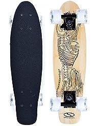 S.M.J. Sport Speed Board–Monopatín infantil bs2206B Skeleton RAMPAS y las Carreteras, marrón, 22x 6pulgadas