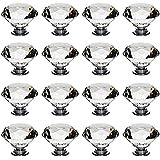 Auped 16 x 40 mm kristallen meubelknop diamant meubelknoppen meubelgrepen laden knoppen ladegreep kastgreep deurknop deurgrep