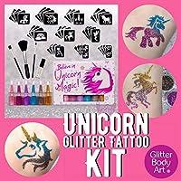 Unicorn Glitter Tattoo Kit - Temporary Body Tattoos