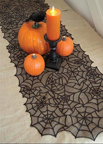 hixixi schwarz Spitze Spider Web, Tischdecke Fledermaus, Halloween Party Raum Dekoration, schwarz, 20