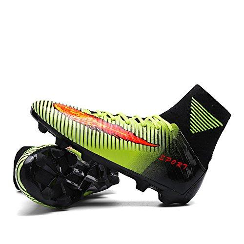 BOLOG Größe EU36-44 Fußballschuhe AG Spike Microfaser Cleats Beruf Athletics High Top Grün