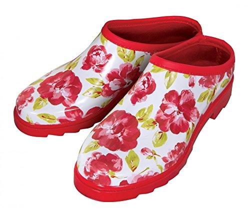 Laura Ashley Garden Cressida Pointure ou Chaussures de jardin Motif 4 rouge
