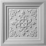 Ekena Millwork CT24X24KI  24-Inch W x 24-Inch H Kinsley Ceiling Tile