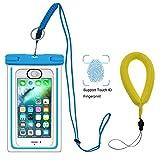 UPhitnis IPX8 Wasserdichte Hülle Tasche Beutel mit Kamera Schwimmer Handschlaufe, Handyhülle, Staubdichte hülle für iPhone 6/ 6s / 6sPlus /SE / 5s / 5 / 5c, Galaxy S7/ S7 edge/S6 / S6 edge / S5,Huawei P8 usw bis zu 6 Zoll