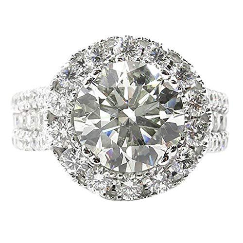 UINGKID Schmuck Damen Ring Luxuriöser und eleganter Diamant-Zirkon weißer durchbrochener Ring-Damenschmuck
