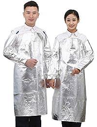 ZPL Delantal de Soldadura aluminizado Babero Delantal Resistente al Calor A Prueba de Salpicaduras Resistente a