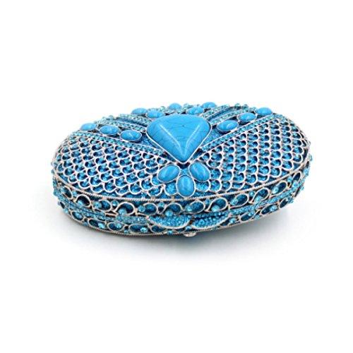 Cristallo Borsa Da Sera Di Lusso Diamante Della Borsa Del Banchetto Delle Donne Blue
