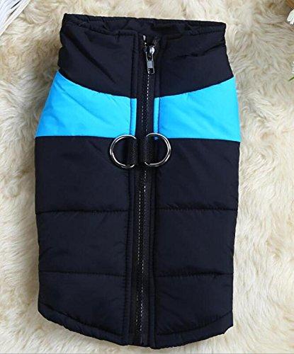LVRXJP Hund Mäntel Weste Hundekleidung warm halten Massiv Rot Grün Blau Rosa, 10 * 5
