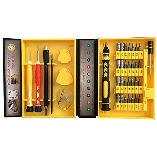 H&Y TECH Universal Haushalt Werkzeugkoffer-Legierung Schraubendreher Set Magnetic Reparatur Werkzeug Kit Set 39 in 1 Austauschbar Magnetverschluss Schraubendrehersatz für iPhone iPad Tablets Laptops PC etc