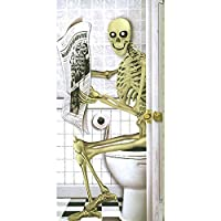 Halloween Door Poster Horror Banner Decoration Skeleton Ghost Toilet Door Cover by Cherry-on-Top