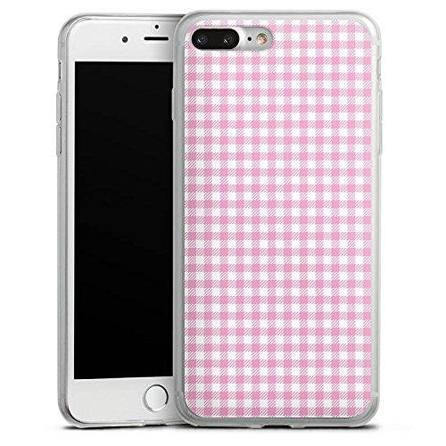 Apple iPhone 8 Plus Slim Case Silikon Hülle Schutzhülle Karo Rosa Oktoberfest Silikon Slim Case transparent