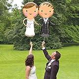2er Set BRAUT & BRÄUTIGAM - 2 Folienballon HOCHZEIT 48x101cm, Luftballons zur Hochzeit + PORTOFREI mgl + Geschenkkarte + Helium & Ballongas geeignet. High Quality Premium Ballons vom Luftballonprofi & deutschen Heliumballon Experten. Luftballon Hochzeitsgeschenk und Ballon Hochzeitsdeko
