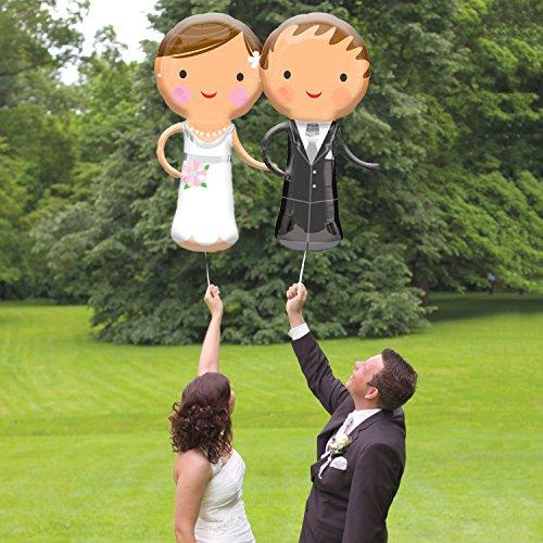 "galleryy.net 2er Set Braut & BRÃ""UTIGAM - 2 Folienballon Hochzeit 48x101cm"
