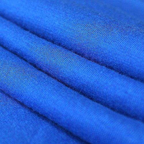 Alivebody Herren Longsleeve Kapuze Hoodie Muskelaufbautraining Sportshirt A-PLN Blue with Round Neck