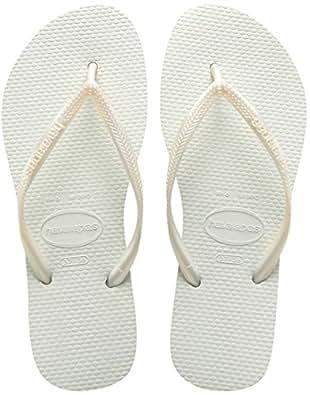 Havaianas Women's Slim Flip Flops, White, 1/2 UK