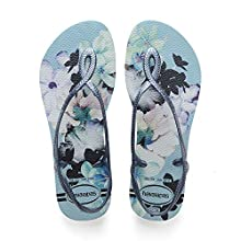 Havaianas Women's Luna Print Sandals, BLUE ACQUA, 1/2 UK