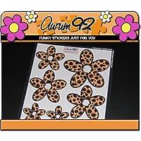 Aurum92 Leopard Print Daisy Stickers