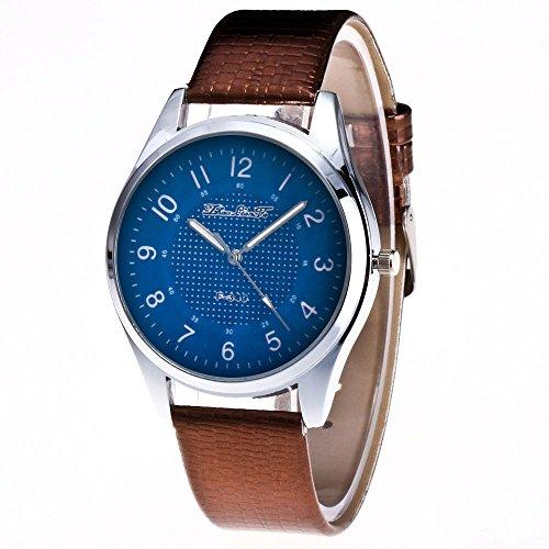 KanLin1986 Mujer reloj de pulsera de cuero reloj de cuarzo (café)
