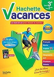 Hachette Vacances de la 3e à la 2nde