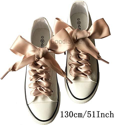 Goodnews 4cm di larghezza Moda lacci in raso nastro lacci piatto raso largo  nastro lacci per scarpe sportive Sneakers colori assortiti 08f33fee4ad