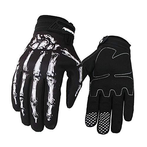 Serired Winddicht wasserdicht Touch Bildschirm Sport Handschuh Winter & Herbst Skelett Knochen Handschuhe Fahrrad Motorrad (Skelett Handschuhe Knochen)