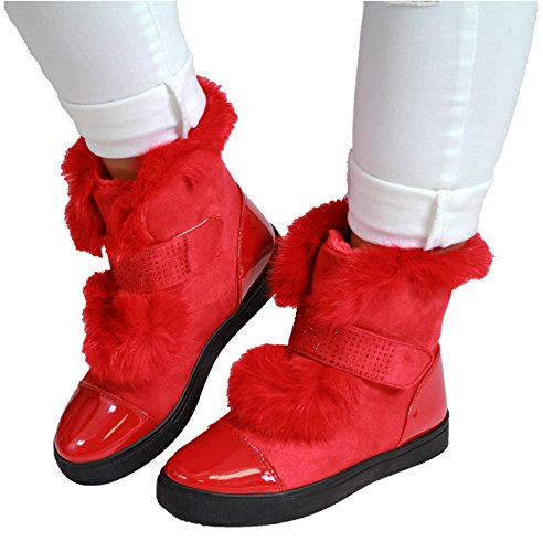 Generic - Pantofole a Stivaletto donna Red