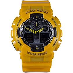 Adixion Sport Round Dial Water Resistant Analog Digital Watch - For Boys & Girls