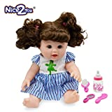 Nice2you Mode Mädchen Puppe Baby Reborn Puppe 12 Zoll Spiel Puppen für Kinder ideal für Geschenk