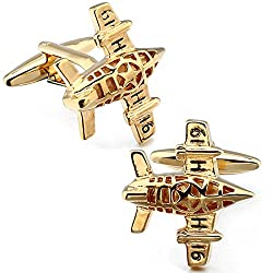Aeroplane HAWSON Novelty Cufflinks fo Men Cuff Button for French Cuff Shirt Multiple Designs