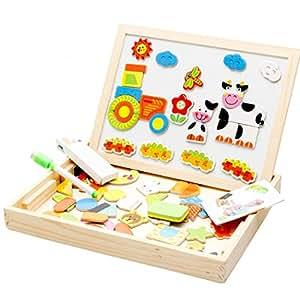 netspower lernspiele magnetisches baby lernspielzeug staffelei magnetic doodle kinder aus holz. Black Bedroom Furniture Sets. Home Design Ideas