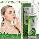 Aloe Vera Gel Bio 100% - Natürliche Beruhigende und Kühlende Pflegende Feuchtigkeitscreme für Sonnenbrand Reparieren Trockene Strapazierte Empfindlichqe Haut - für Gesicht Haare und Körper 250ml