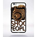 Générique Coque i Shoot People Compatible Apple iphone 6 Plus Bord Noir Silicone