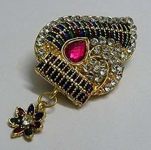 Theshopy Designer Saree Pin With Stone Ftd 1pcs + 1pcs free mix Size:- (Inche) 2X1.5#4998