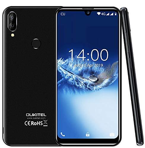 """(2019) 4G Smartphone ohne vertrag, OUKITEL C16 Pro Android 9.0 Handy - MT6761 Quad-Core 2.0GHz 3GB +32GB, 5,71""""Wassertropfen Bildschirm, Gesichtserkennung& Fingerabdrucksensor Entsperren Schwarz"""