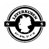 Wadeco Koordinaten rund Leverkusen Wandtattoo Wandsticker Wandaufkleber 35 Farben verschiedene Größen, 126cm x 114cm, flieder