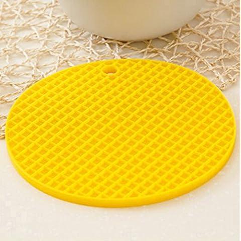 Creative casa silicone ciotola stuoia/ Lazy Susan cucina calda pad/ pentola/Tovaglietta/ anti-scivolo coaster/ tondo Tovaglietta-D 17x17cm(7x7inch)