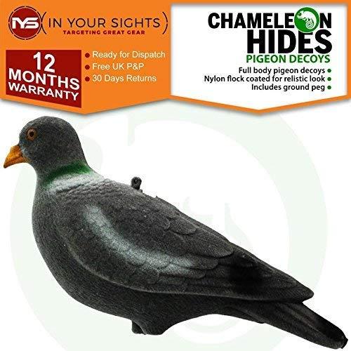 Chameleon 12 X Floqué Pigeon Appâts / Complet Tir au Pigeon Leurre Incluant Chevilles