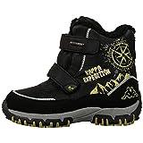 Kappa Unisex-Kinder Denton II Tex Teens Combat Boots, Schwarz (1133 Black/Lime), 37 EU