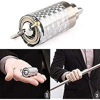 ddellk Metall Zauberstab Tricks für professionelle Zauberer Stage - Erscheinen Cane Silver Cudgel (110CM)