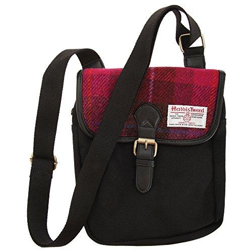 Harris Tweed Schultertasche/Messenger-Tasche (Einheitsgröße) (Kirsche)